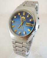 VINTAGE ORIENT CRYSTAL AAA AUTOMATIC 3 STAR DAY & DATE MEN'S WRISTWATCH 21 jewel