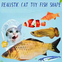 Realistic Cat Toy Fish Catnip Mint Stuffed Pet Interactive Kitten Kicker Pl K3Z3