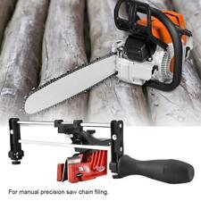 HOT Adjustable Manual Chain Saw Sharpener Grinder Bar Mounted Filing Clamp Tool