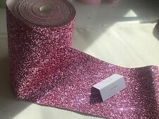 Grade 3  Raspberry Ripple Glitter Wall Border Fabric Wallpaper Sold By Metre