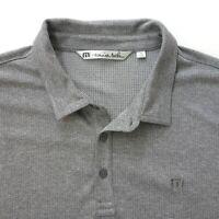 Travis Mathew Mens  Golf polo Shirt Size XXL gray Short Sleeve