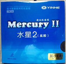 2 x YINHE GALAXY Mercury II  pips-in table tennis rubber new