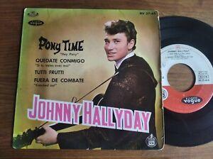 JOHNNY HALLYDAY - Pony Time  EP Vogue Espagne 1962