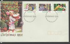 Australia 1992 FDC Christmas fine used set stamps