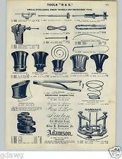 1905 PAPER AD 4 PG Jeweler's Eyeglass Maker Engraver Tools Transfer Wax King Bee