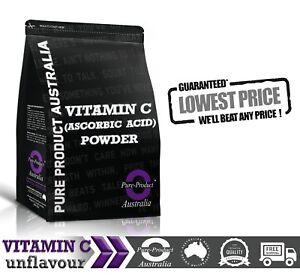 1KG PURE VITAMIN C ( 100% Ascorbic Acid USP ) POWDER Premium Quality NON GMO