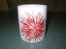 "Starbucks Mug Cup White 2014 Red Holiday Star 3 3/4"" Tall x 3 3/4"" Diameter"
