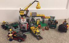 LEGO CITY 4204 MINIERA Escavatore PERFORATORE Camion Gru Escavatore con camion sicuro pista treno