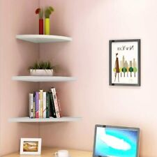 3Pcs Corner Wall Shelves Shelf Floating Mounted Storage Rack Display Home Decor