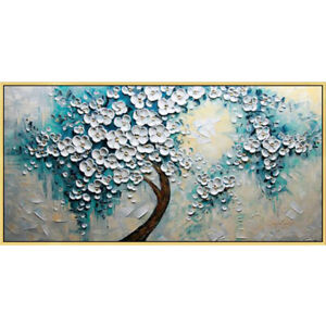"""YA693 Large Hand-painted oil painting Abstract 3D Blessing tree UNFRAMED 48"""""""