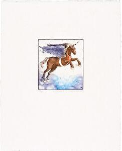 Pegasus - Thomas Möser, Original Graphik, NEU, Geschenkidee, Kunst