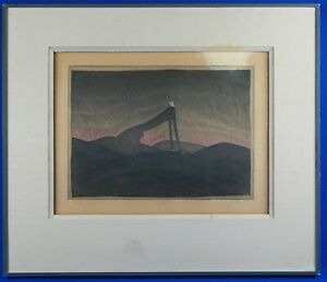 Folon Museum Ship Ocean Paris Advert Large Canvas Art Print
