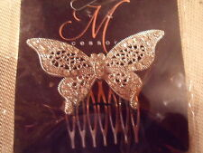 SILVER BUTTERFLY DECORATIVE COMB