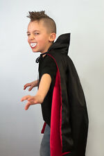Handmade Vampire Cape Child Originals by Lauren Black Satin Fully Lined