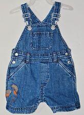 GYMBOREE Size 3-6 Months Blue Denim Snap Crotch 5 Pockets Jumper Overalls