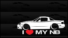 I Heart My NB Miata Sticker Love Mazda Slammed JDM Japan Drift Hardtop