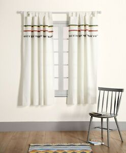 Mamas and Papas Nestling Fringed Neutral Nursery Curtains 132cm x 160cm