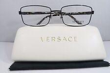 CLEARANCE Versace MOD 1212 1009 Black/Havana New Authentic Eyeglasses 55mm Case