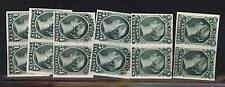Canada #FB18  #FB30 XF Imperf Proof Pairs In Green