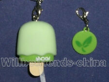 Ice Cream Cell Phone Flash Charm Pendant Strap Lanyard Green