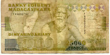 BILLET BANQUE MADAGASCAR 25000 FRS 5000 ARIARY 1993 état voir scan 792