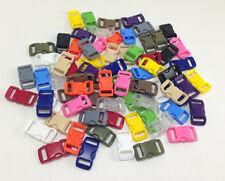 Paracord Buckle clips 100 ct for paracord bracelet 13 colors + 10 ft paracord