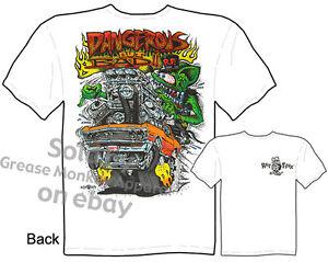 67 Chevelle Rat Fink T Shirts 1967 Chevy Tee Dangerous But Bad Sz M L XL 2XL 3XL