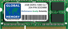 2gb DDR3 1066MHz PC3-8500 204-PIN Memoria Sodimm Ram para Apple Intel