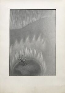 Erich Hahn Berlin Mother Earth Planet Old Tree Flames 1981 Surrealism