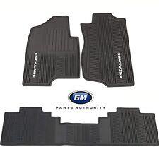 2007-2012 Cadillac Escalade Front & Rear Premium All Weather Floor Mat Pkg Black
