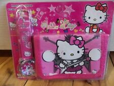 HELLO KITTY CHILD WALLET & WATCH AUSSIE SELLER FAST FREE POST- GREAT GIFT $9.99