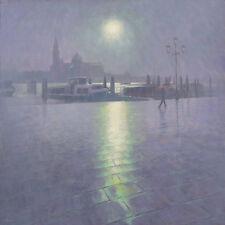 """BEAUTIFUL ORIGINAL MARK HARRISON """"Riva Degli Schiavoni""""  Venice OIL  PAINTING"""