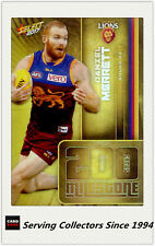 2017 AFL Footy Stars Trading Card Milestones Subset MG7 Daniel Merrett(Brisbane