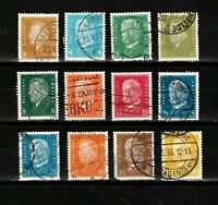 Germany stamps, #366-384, minus a couple, with shades,'28-'32, SCV $16