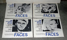 JOHN CASSAVETES FACES orig 1968 lobby card set GENA ROWLANDS 11x14 movie posters