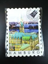 Hamburg Rathaus Germany Deutschland Magnet Briefmarken Optik Souvenir