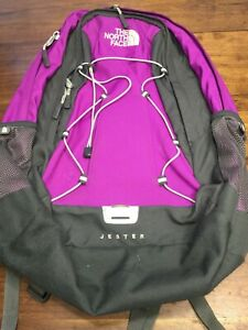 The North Face Jester Backpack Purple Hiking Travel School Backpack