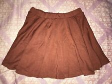 094 Korean Women's Fashion Cotton Mini Skirt Brown