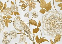 A1 Delicate Gold Flower Pattern Poster Art Print 60 X 90cm 180gsm - Gift #16910