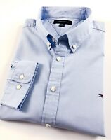 TOMMY HILFIGER Shirt Men's Light Blue Brushed Oxford Classic Fit Long Sleeve