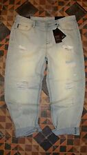Women's Distressed Denim Jeans ARMANI A/X EXCHANGE Boyfriend 32 Cropped $130 NWT