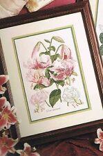 "NIP Craftways 'Lily Botanical' Counted Cross Stitch Kit 8 5/8"" X 11 3/4"""