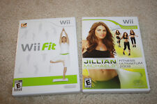 Nintendo Wii Fit Game (Sealed) & Jillian Michaels Fitness Game Only - Y1012