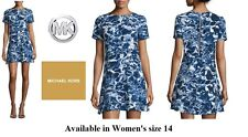 Michael Kors Women's size 14 Short Sleeve Above Knee, Mini Dress, Blue Water NWT