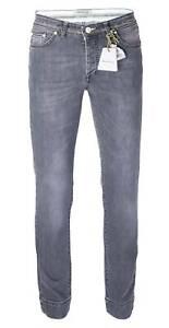 NWT SARTORIO Napoli JEANS 5pockets grey cotton denim luxury handmade Italy us 34