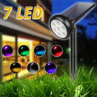 Solar Power 7 LED Spotlight Outdoor Garden Lamp Lawn Landscape Lights Waterproof