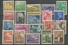 1942 TURKEY PICTORIAL REGULAR ISSUE COMPLETE SET OF 20 MNH** TRAIN STATUE ANIMAL