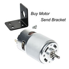 775 12V DC 12000rpm Brush Motor Micro High Speed Motor and Bracket for DIY Part