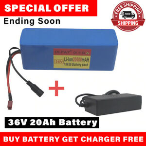 36v 20ah E-bike Li-ion Battery Volt Rechargeable Bicycle 500w Electric+Charger