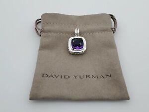 David Yurman Sterling Silver 925 14mm Albion Pendant with Amethyst